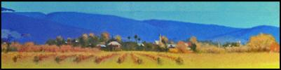 painting of mudgee nest in the hills judy kurts