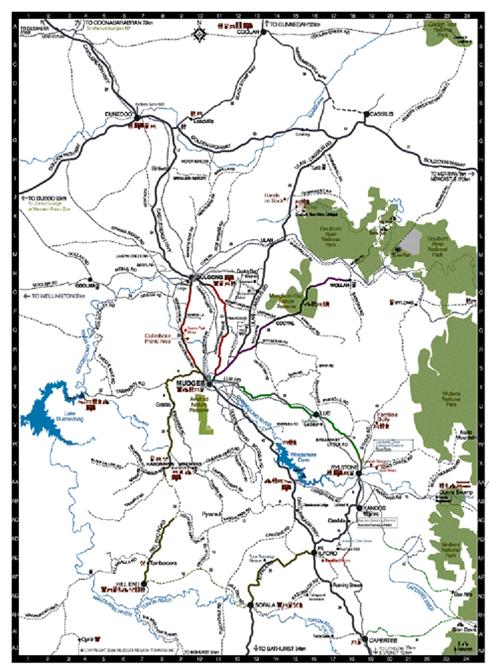 map of mudgee