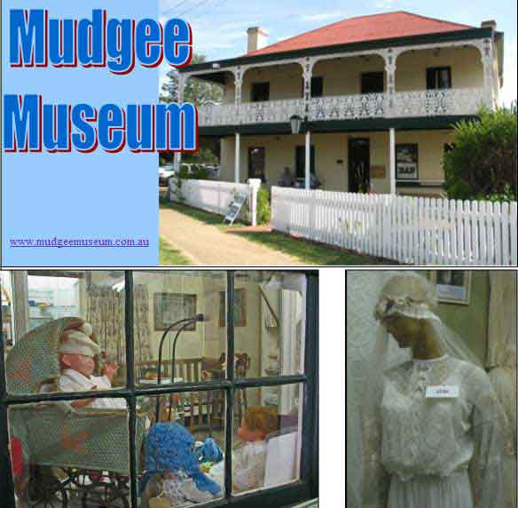 Mudgee museum building and inside