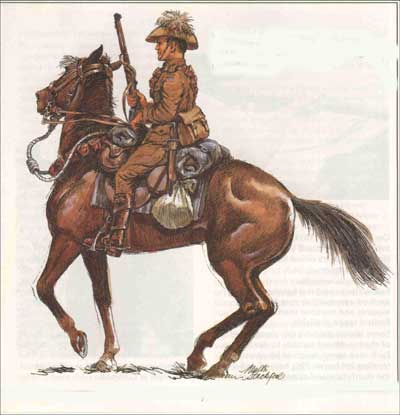 A LIGHT HORSE CAVALRY SOLDIER kandos rylstone